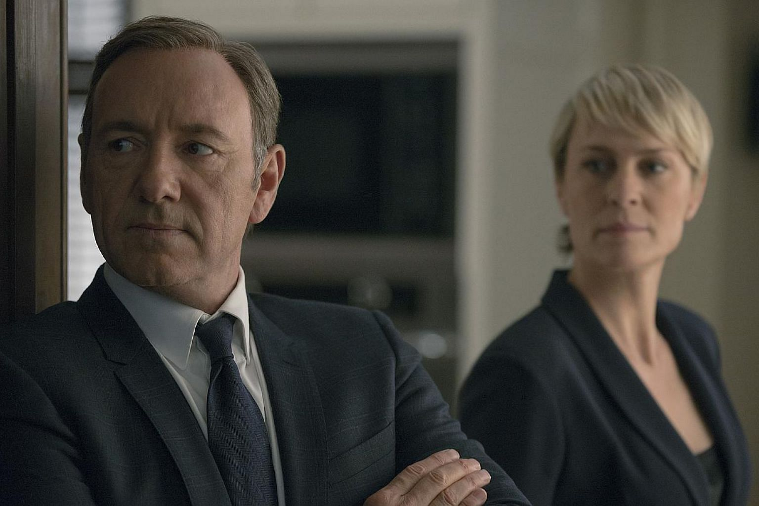 Television still of House Of Cards starring Kevin Spacey and Robin Wright. -- PHOTO: MRC II Distribution Company