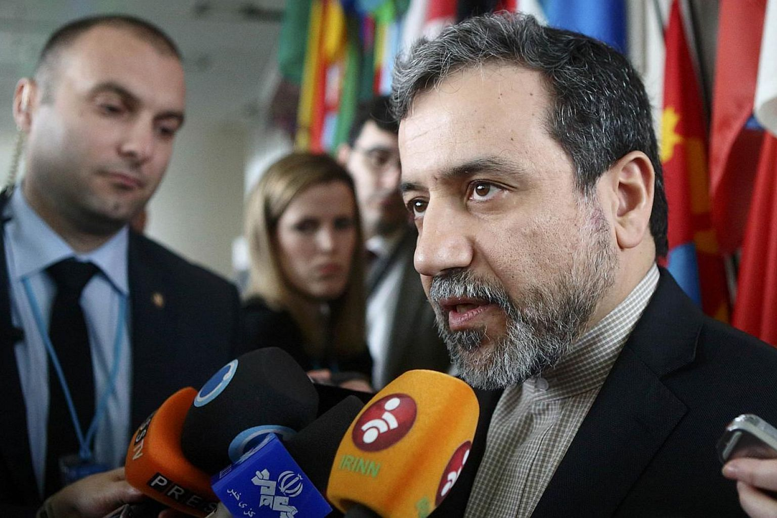 "Iran's chief nuclear negotiator Abbas Araghchi said on Wednesday, April 1, 2015, that ""problems"" remain in nuclear talks with world powers and that there can be no deal without a ""framework for the removal of all sanctions"". -- PHOTO: REUTERS"