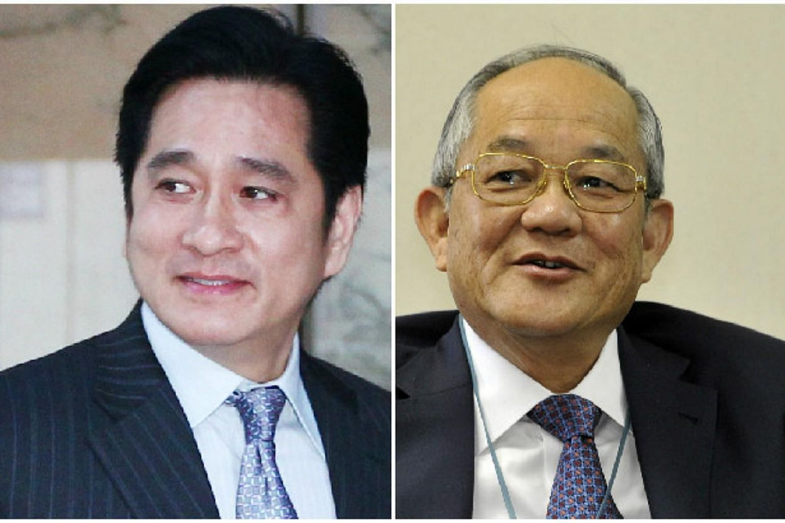 The High Court has awarded more than $132 million in damages to Indonesian billionaire Low Tuck Kwong (right) for a defamation case he brought against Singapore businessman Sukamto Sia. -- PHOTOS: ST FILE, ZAOBAO