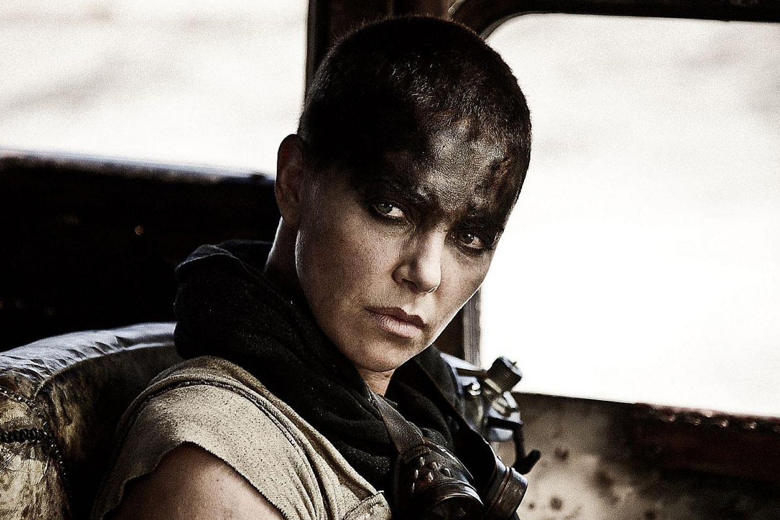 Mad Max: Fury Road, starring British actor Tom Hardy andCharlize Theron (above).The film will have its world premiere on May 14 at the Cannes Film Festival.-- PHOTO: GOLDEN VILLAGE PICTURES