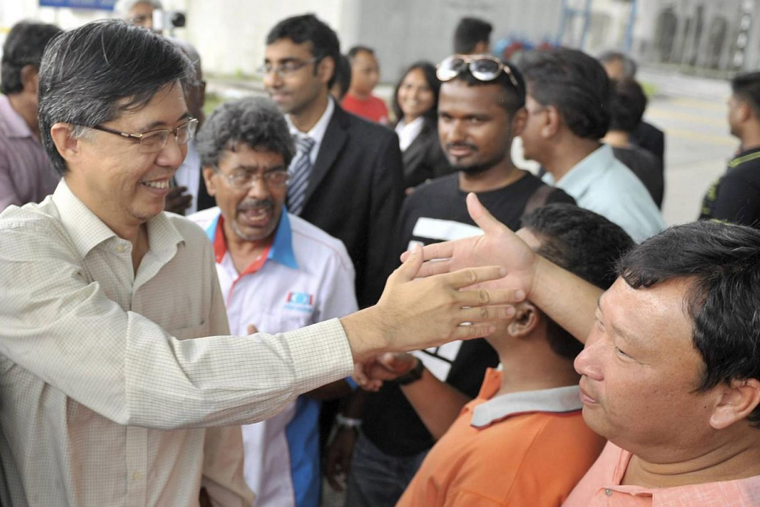 Prominent Malaysian opposition leader Tian Chua (left, seen in this May 2013 file photo), said on Sunday, May 3, 2015, that he had been physically abused by police after they arrested him without giving any reason. -- PHOTO:THE STAR/ASIA NEWS NETWORK