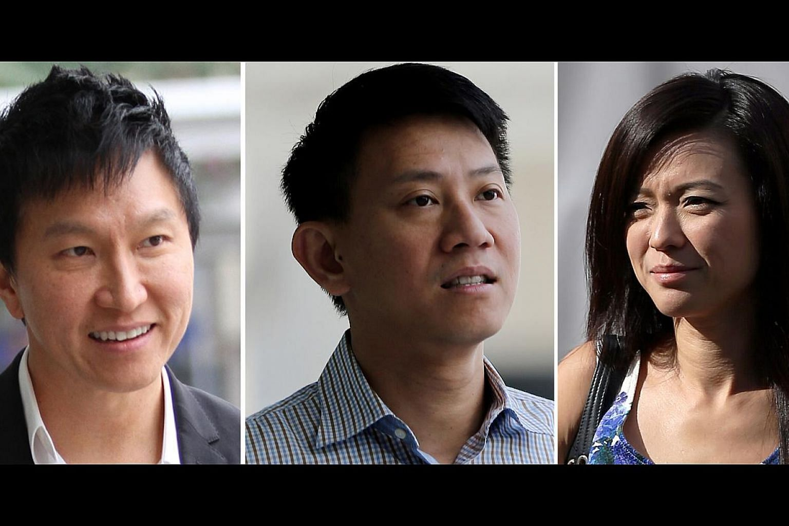 The prosecution charged that the 2006 decision to increase Ms Ho Yeow Sun's salary was not made by Xtron directors but by her husband Kong Hee (left) and fellow pastor Tan Ye Peng (centre). Wee (right) allegedly wrote the minutes of the supposed boar