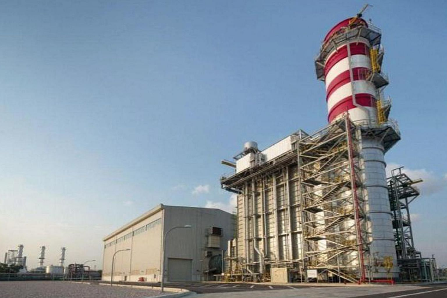 Sembcorp's new co-generation plant on Jurong Island. -- PHOTO: SEMBCORP INDUSTRIES