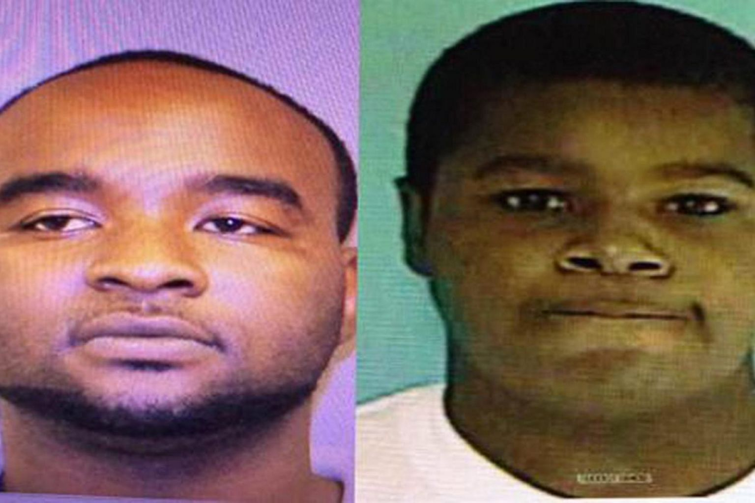 A handout combo image released by the Oxford Police Department on May 9, 2015, shows Curtis Banks (left) and Marvin Banks who are being sought in connection with the murder of two police officers during a traffic stop in Hattiesburg, Mississippi