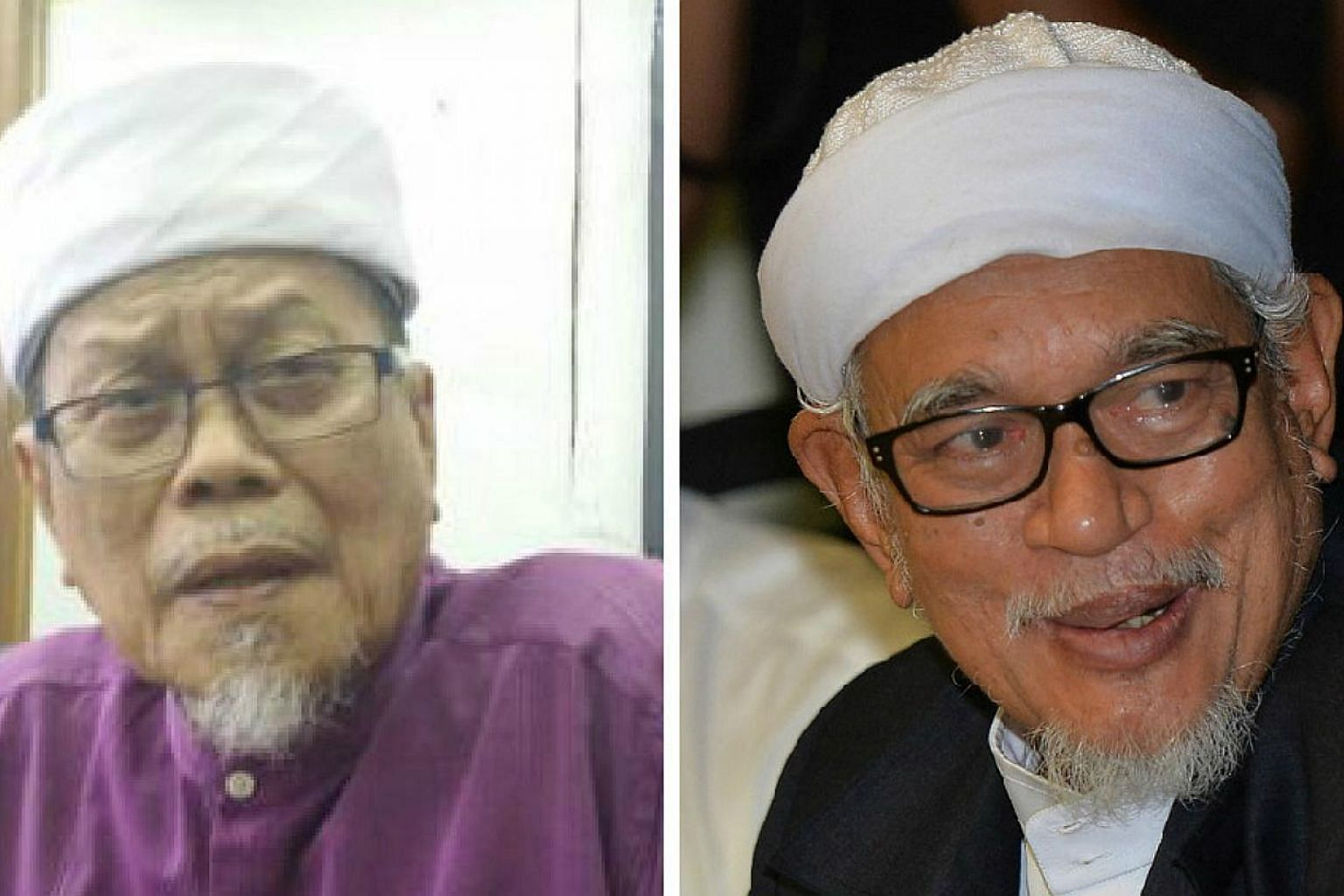Veteran Parti Islam SeMalaysia (PAS) leader Ahmad Awang (left) will challenge long-term president Datuk Seri Abdul Hadi Awang for the leadership of the Malaysian opposition party at the party polls in June. --PHOTOS: THE STAR/ASIA NEWS NETWORK&