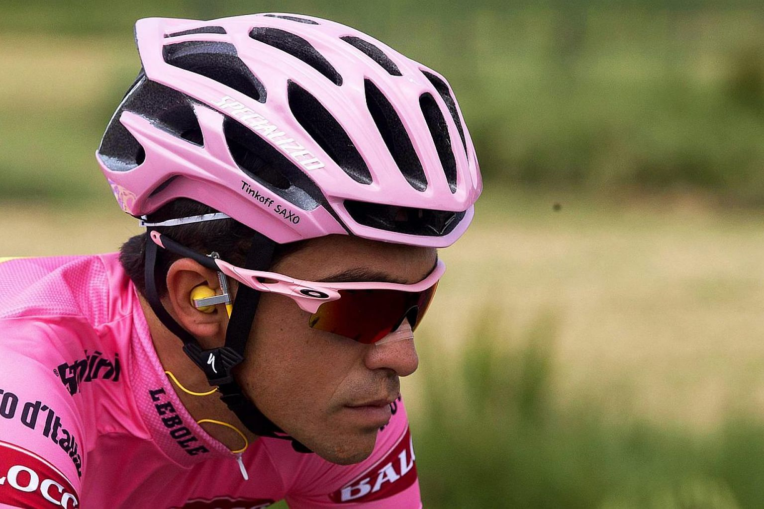 Spanish rider Alberto Contador during the sixth stage of the 98th Giro d'Italia cycling tour. -- PHOTO: EPA