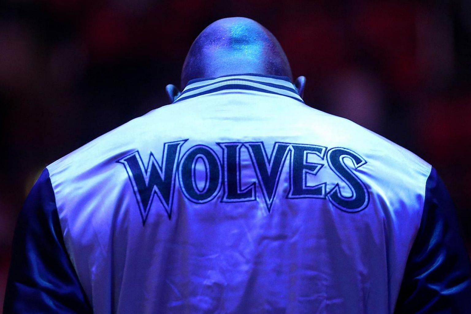 Kevin Garnett #21 of the Minnesota Timberwolves stands during the singing of the national anthem before the game with the Los Angeles Clippers at Staples Center on March 9, 2015 in Los Angeles, California. The Timberwolves won the right to pick first