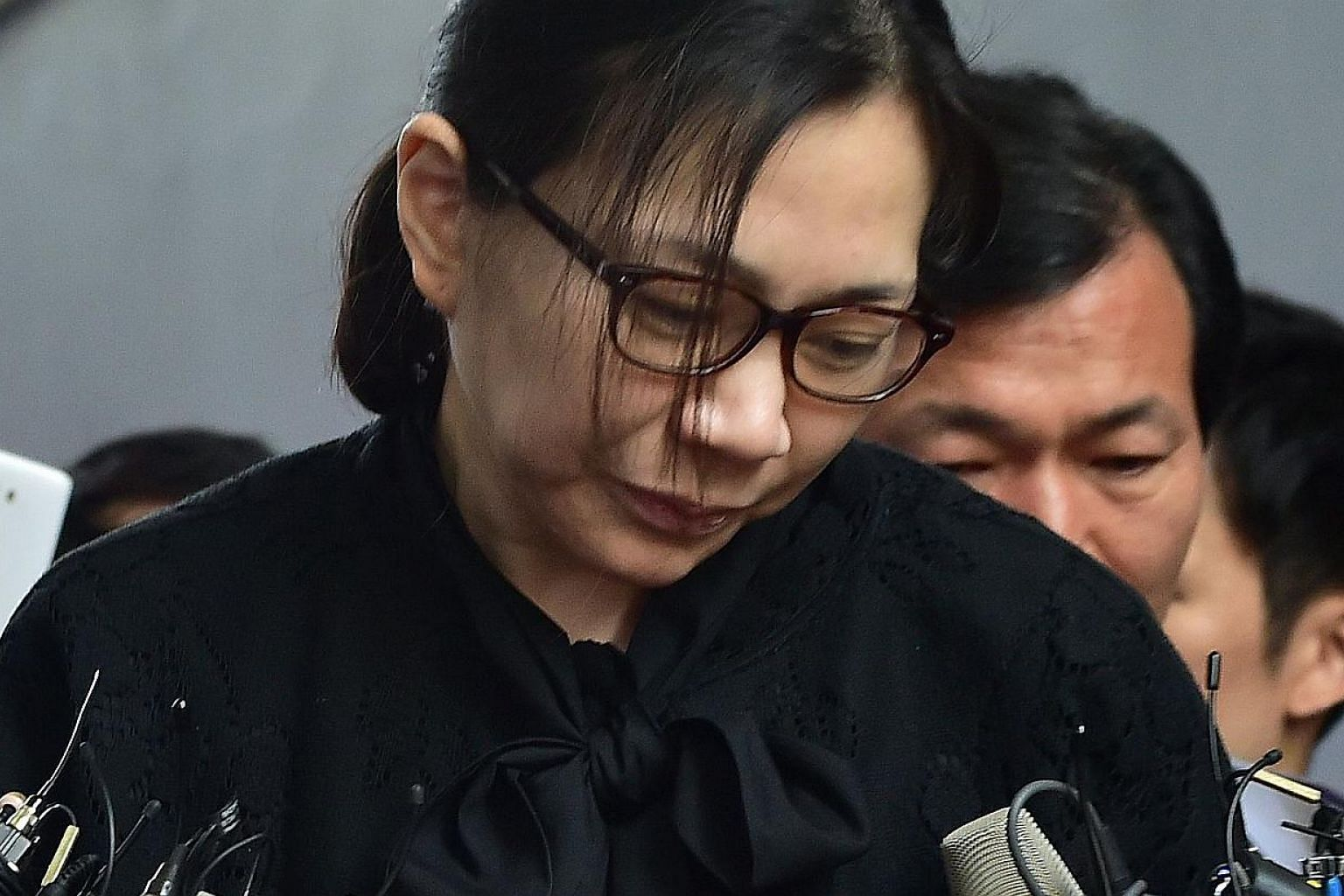"Ms Cho, one of three children of Korean Air chief executive Cho Yang Ho, was ""parachuted"" into the company in 1999 as vice-president. She was said to be vying with her brother and sister, who also hold senior positions in the airline, to succeed thei"