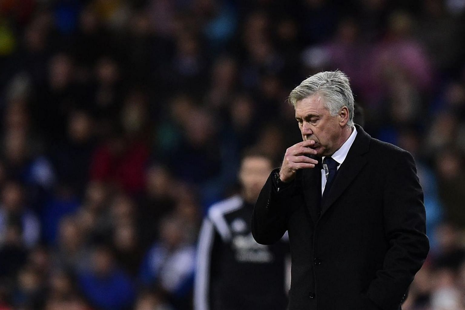 Carlo Ancelotti has been sacked by Real Madrid after the Italian coach failed to lead the team to a major trophy in a disappointing season for the Spanish football giants. -- PHOTO: AFP