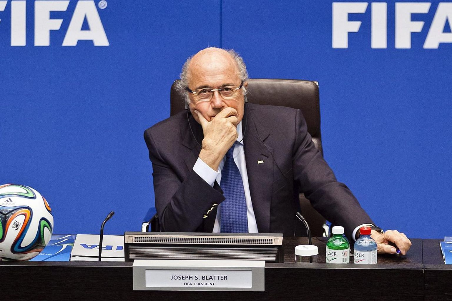 Fifa president Sepp Blatter kept out of sight for the second successive day on Thursday, May 28, 2015, when he failed to show up at a medical conference the day after world football's governing body was plunged into another corruption scandal. -- PHO