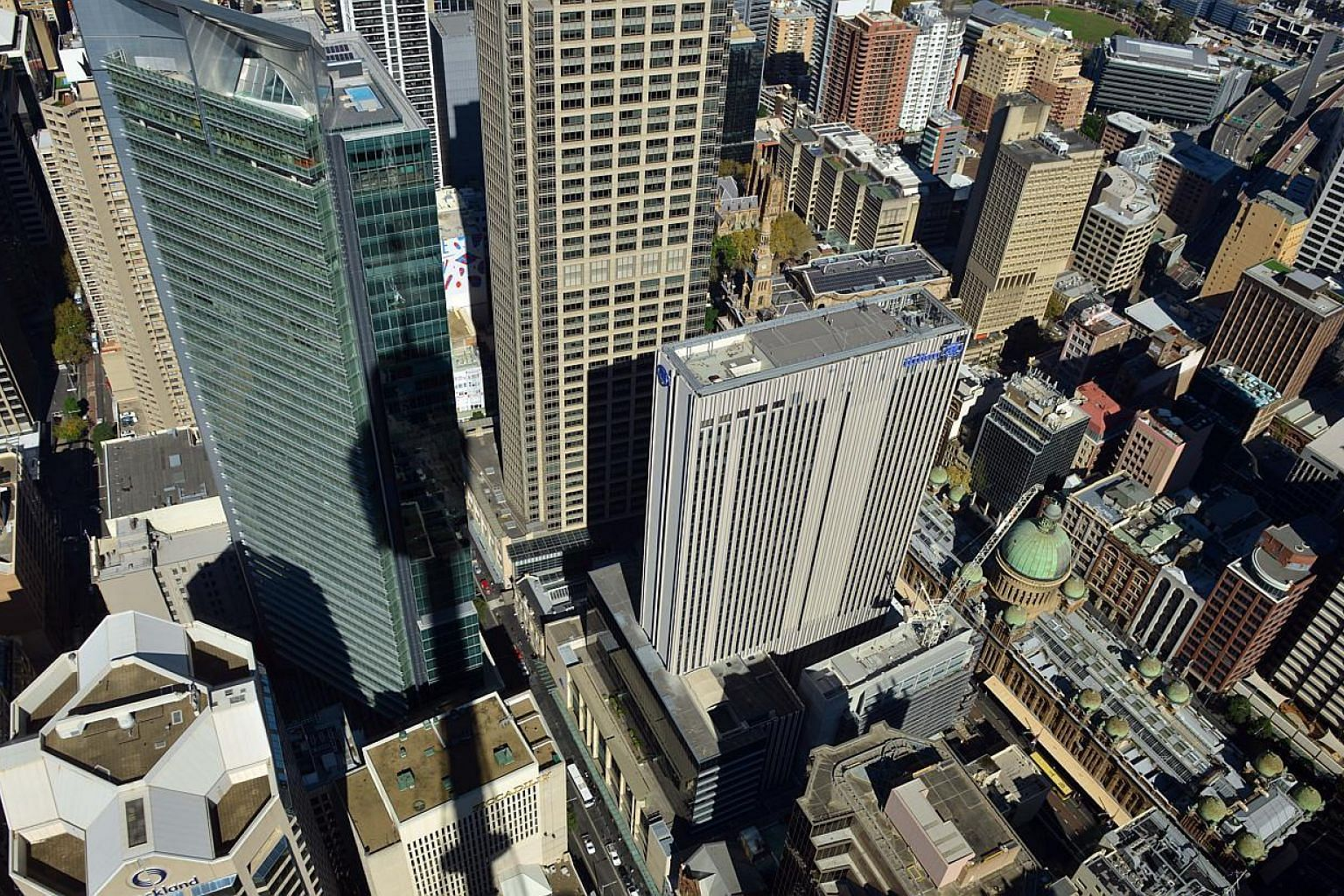 A view of the Central Business District of Sydney from the Sydney Tower on May 5, 2015. -- PHOTO: AFP