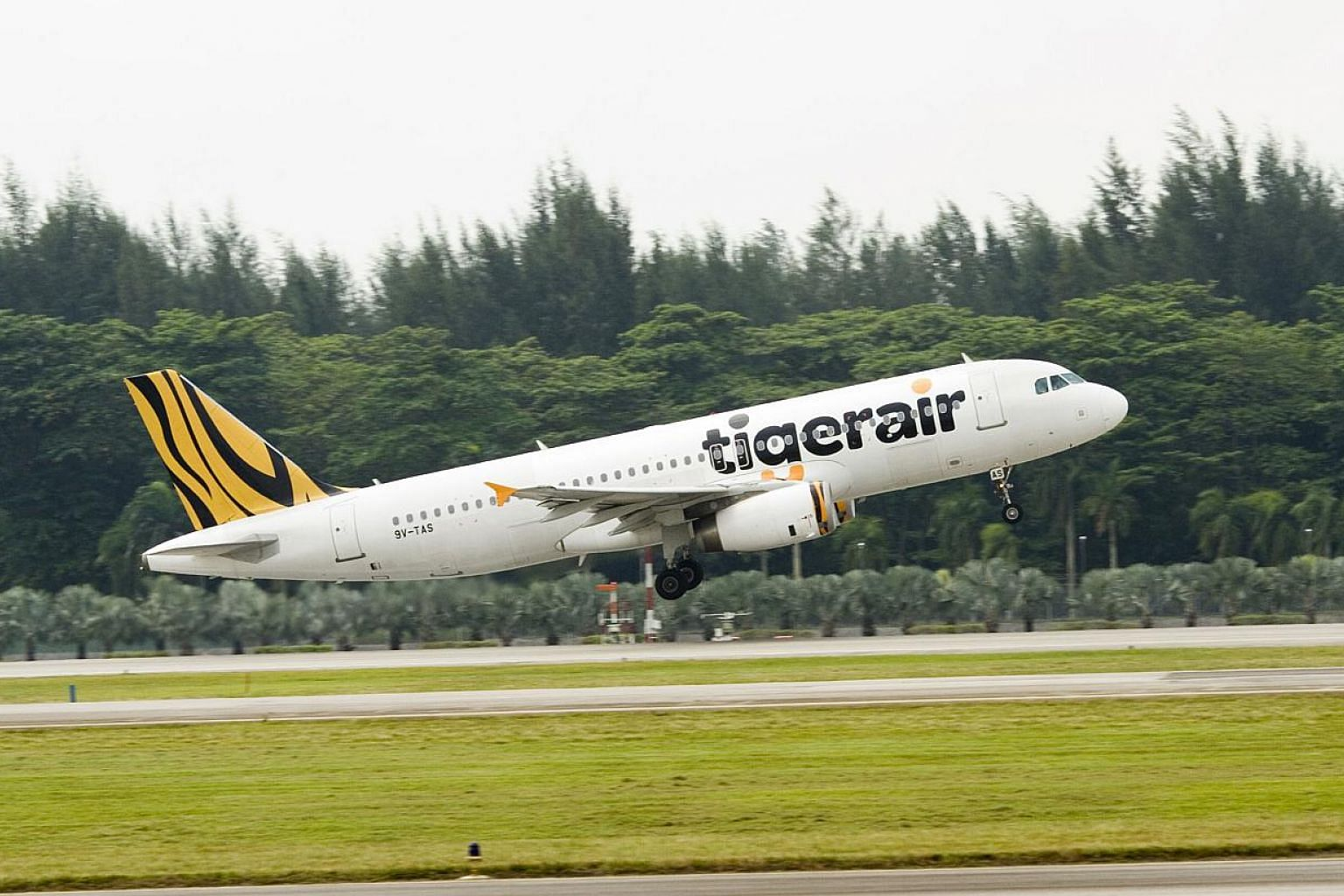 The aircraft (not pictured) landed safely in Haikou three hours later after two fly-pasts. -- PHOTO: TIGERAIR
