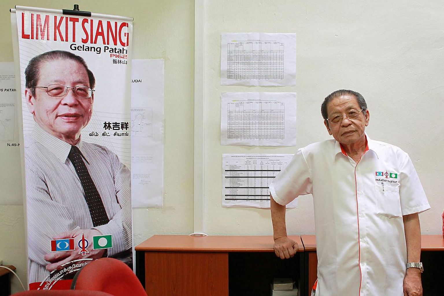 The Democratic Action Party's (DAP) made its decision to announce that the opposition Pakatan Rakyat (PR) alliance no longer exists because it wanted to recognise the current political reality, said party adviser Lim Kit Siang (above). -- ST FILE PHO