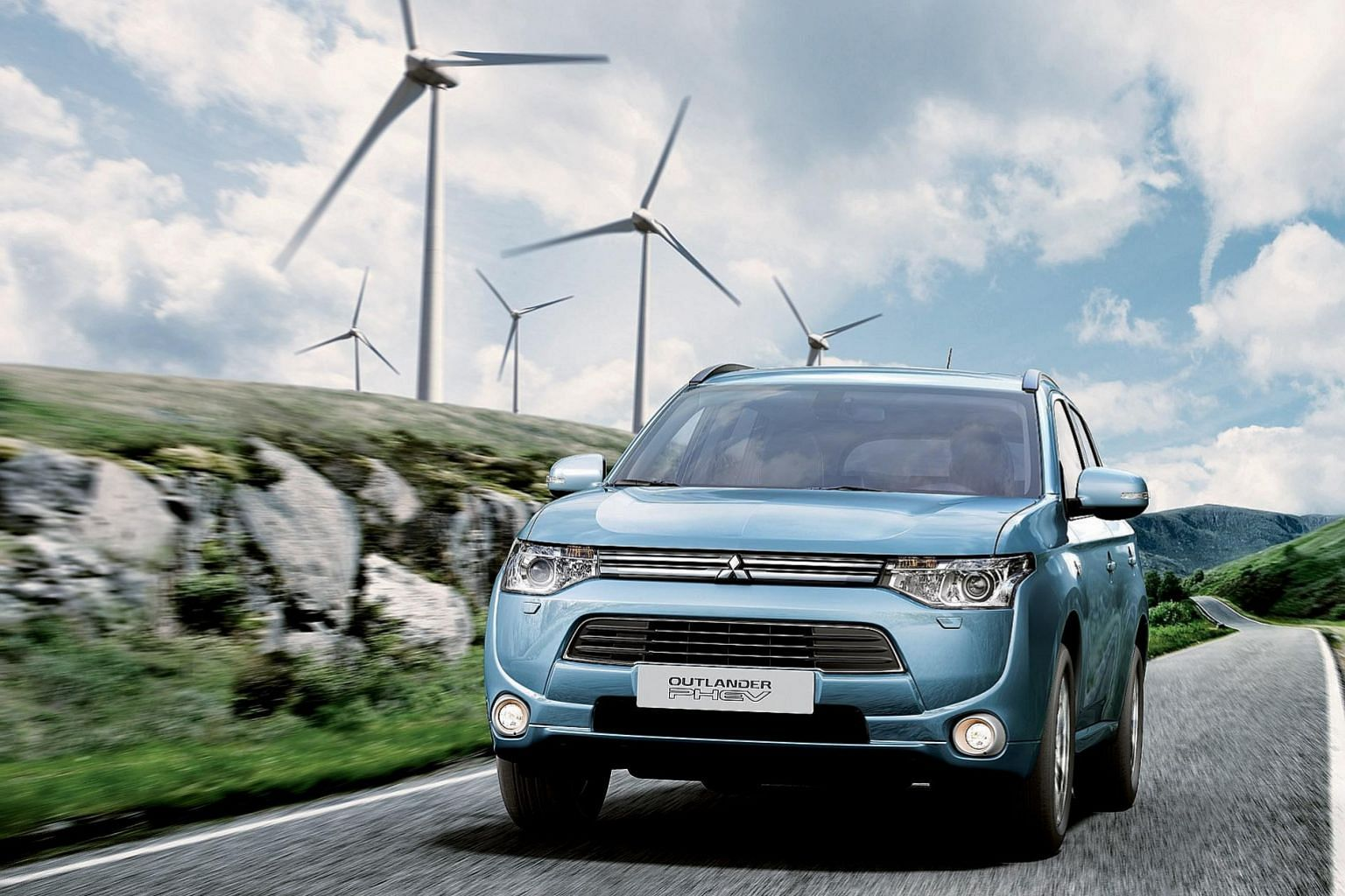 The Outlander PHEV is the world's first petrol-electric 4x4 which you can charge via a wall socket.