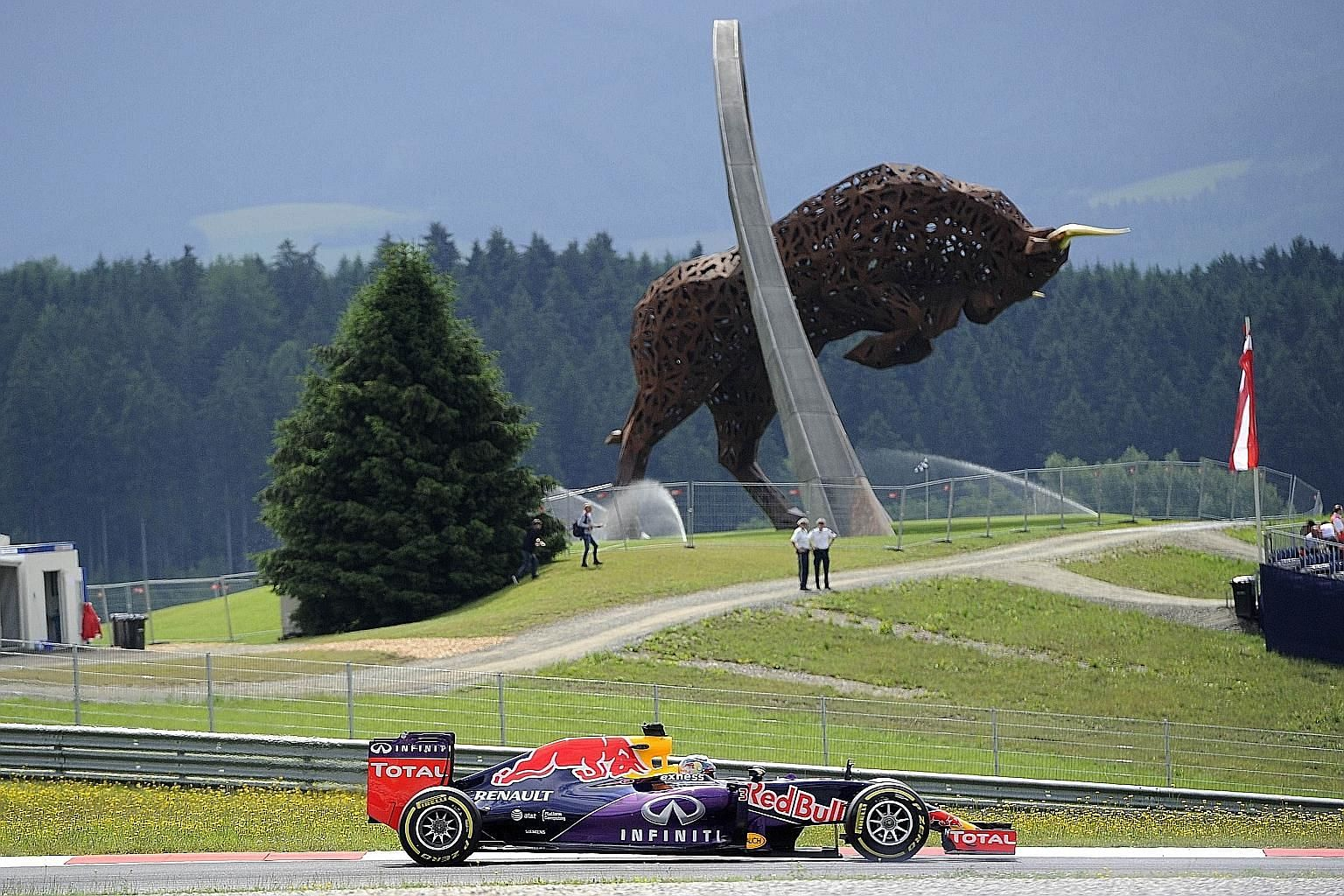 There was little cheer for Red Bull owner Dietrich Mateschitz on Sunday at his home Austrian Grand Prix when Daniel Ricciardo (above) could only finish 10th. The big spender in F1 has threatened to pull out of the sport if there are no changes to the