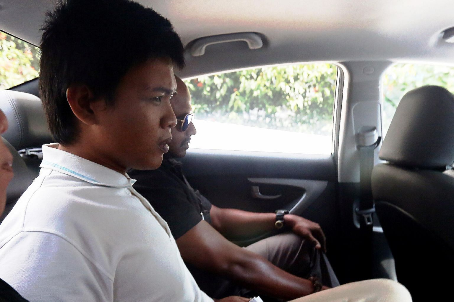 Muhammad Iskandar was charged yesterday with hitting a policeman with a T-baton and a metal pole.