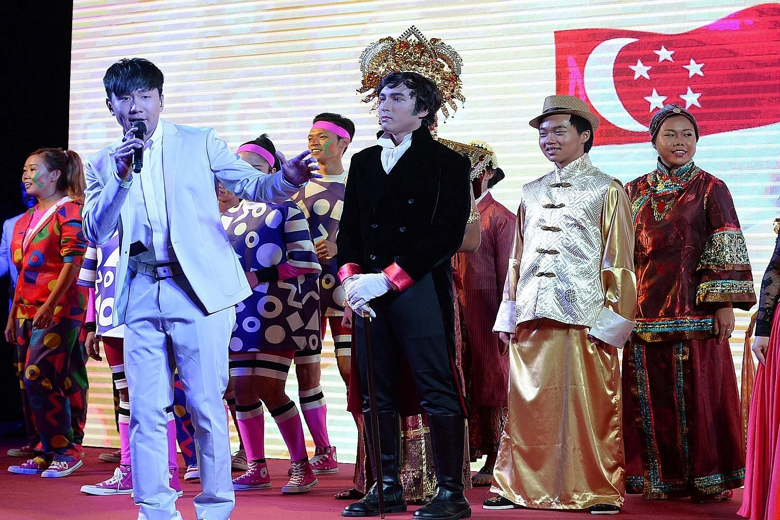 JJ Lin (above) will sing Our Singapore at the NDP show, which will trace the nation's progress and look to the future.