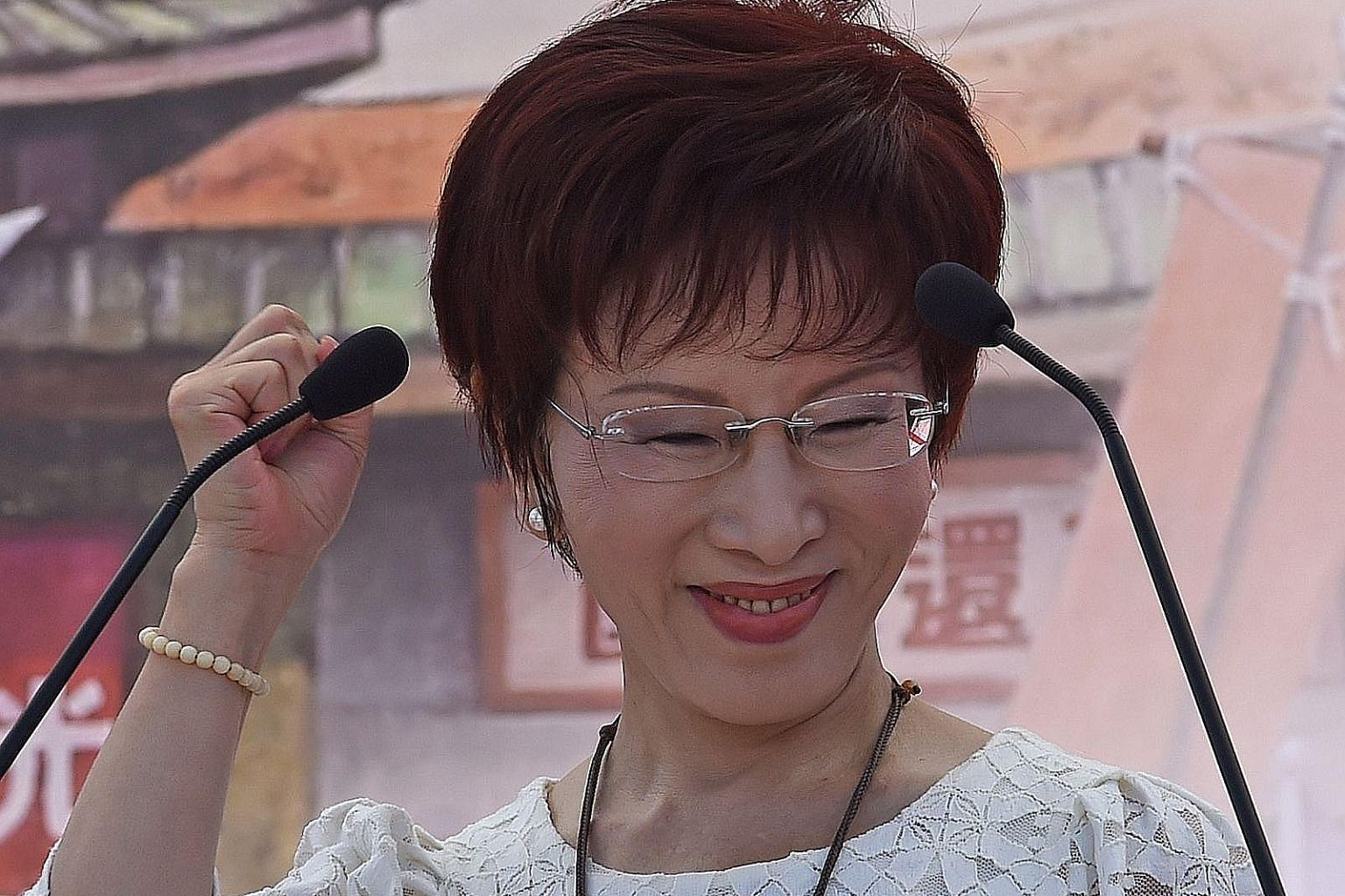 """Ms Hung Hsiu-chu, the ruling KMT's likely choice to be its next presidential candidate, is known as """"little hot pepper"""" for her straight-talking style."""