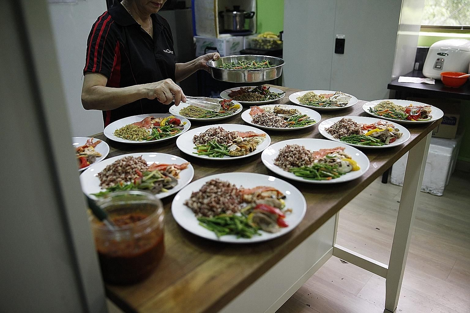Lunch is a wholesome affair and free at the top level of ViewQwest's five-storey shophouse office in Bukit Timah Road.