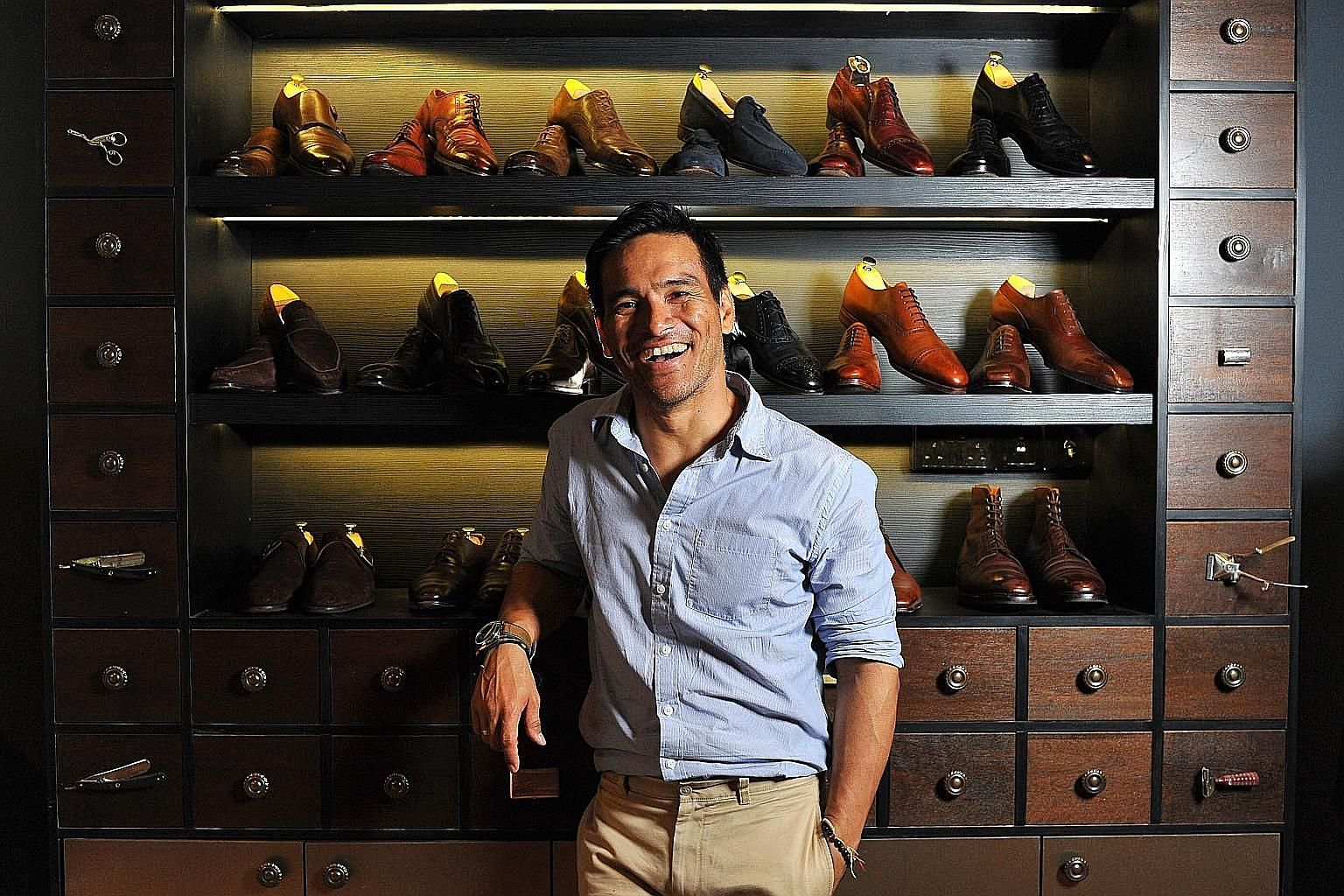 Mr Arthur Agraviador does not mind splurging on quality shoes as he believes they can last.
