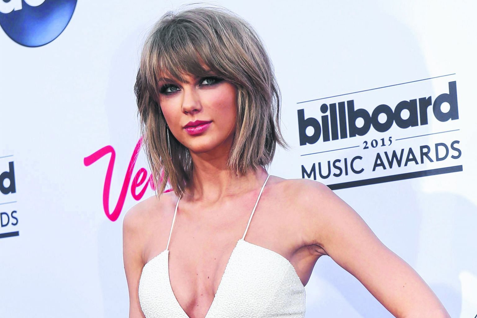 The rumoured bad blood between pop superstars Taylor Swift (far left) and Katy Perry (left) went public when Perry tweeted pointed criticism of Swift.