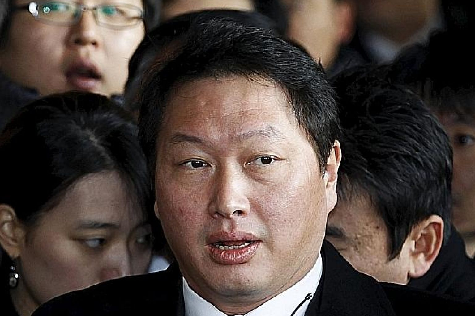 Chey Tae Won, chairman of South Korea's third-largest conglomerate, was in jail for fraud before his pardon.