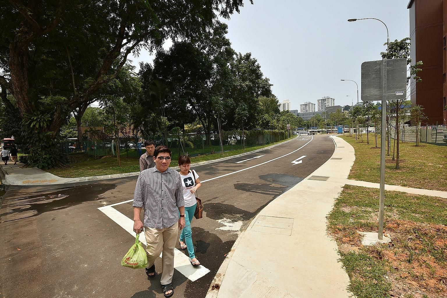 The new road, Bukit Merah Lane 4, with its 265 new parking spaces, is expected to ease traffic around Alexandra Village Food Centre. It also provides another route to Alexandra Village.