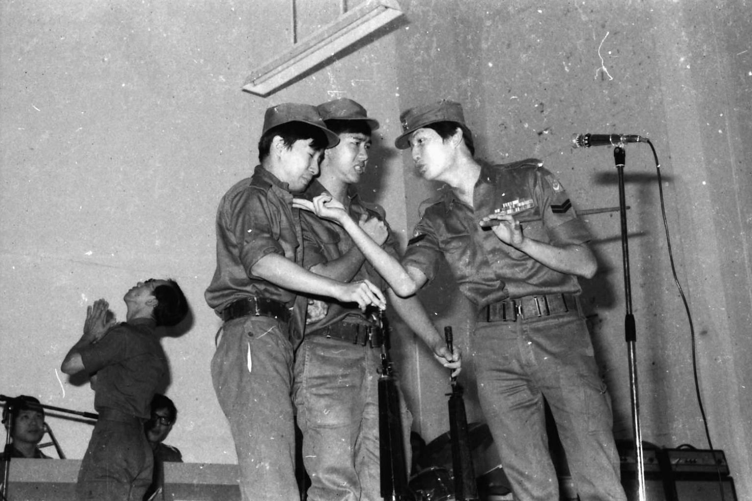 A skit from the early days of the SAF's Music and Drama Company; preparing for a roadshow; the MDC's Chinese orchestra in 1992.