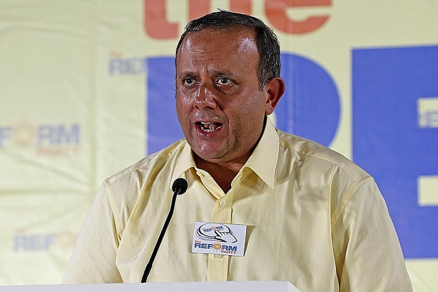 """Reform Party chief Kenneth Jeyaretnam (left) says independent Han Hui Hui (right) has a """"creative"""" approach to truth and that was a prominent factor in his party's decision not to field her."""