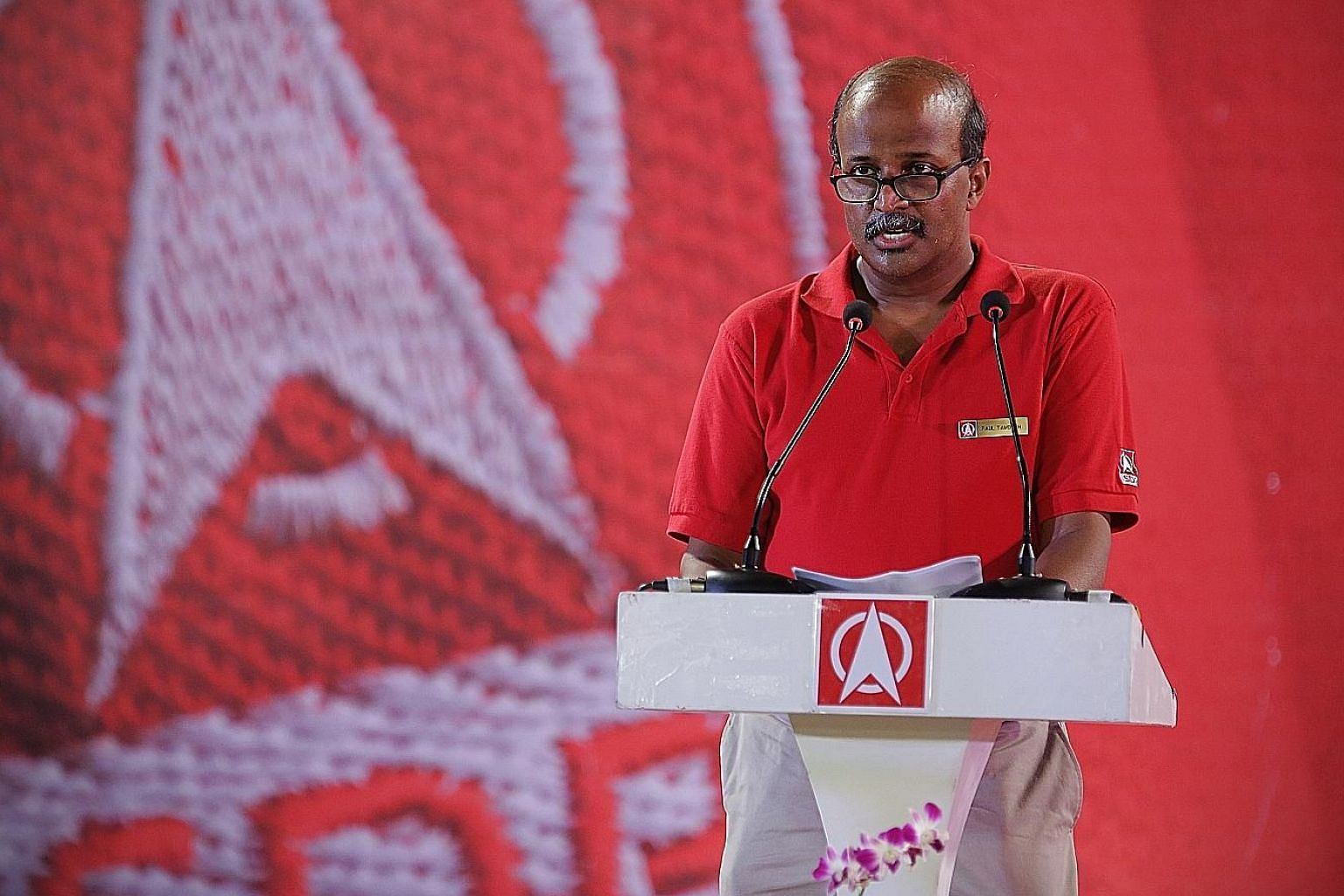 """SDP's candidate Paul Tambyah said at the party's rally last night that """"honesty means realising that you are in your job because the people trusted you to speak up for them, and you owe your job to them""""."""