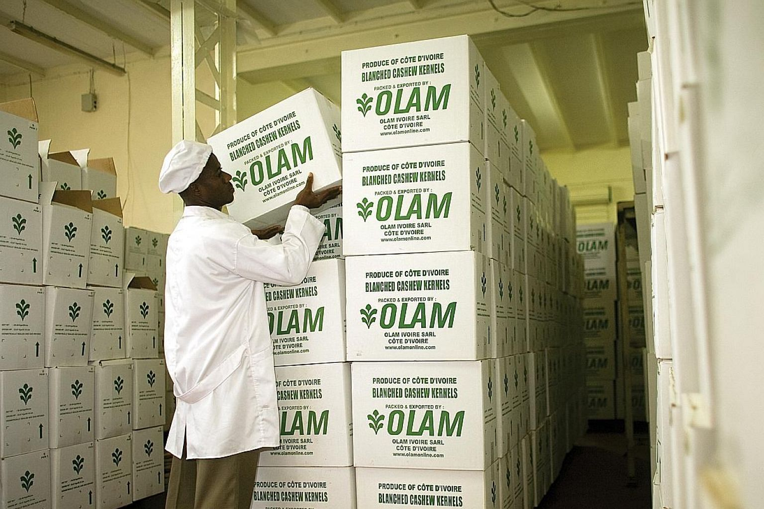 Olam, which says it is the biggest originator of African coffee, has a network of 2.8 million smallholders in 24 African countries involved in cocoa, cotton, nuts and sesame, among others.