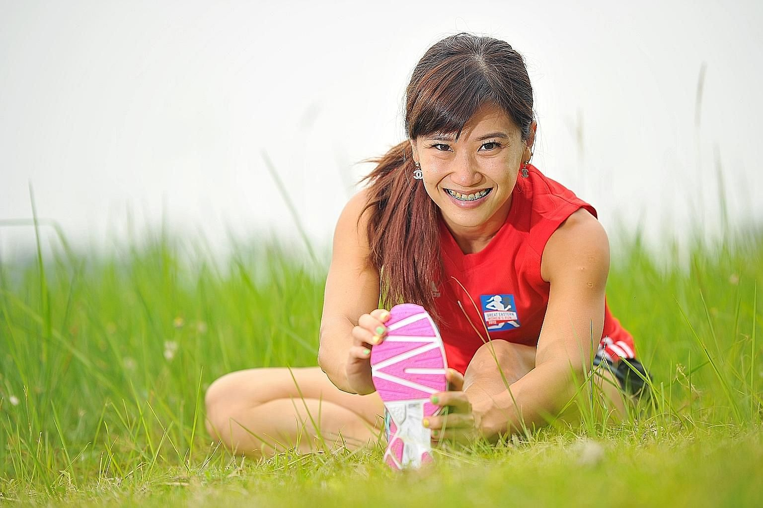 Rachel Yang needs to sprint just about 30m down the vault runway each time in competition. However, she hopes to complete 5km under 45min in the GE Women's Run on Nov 1.