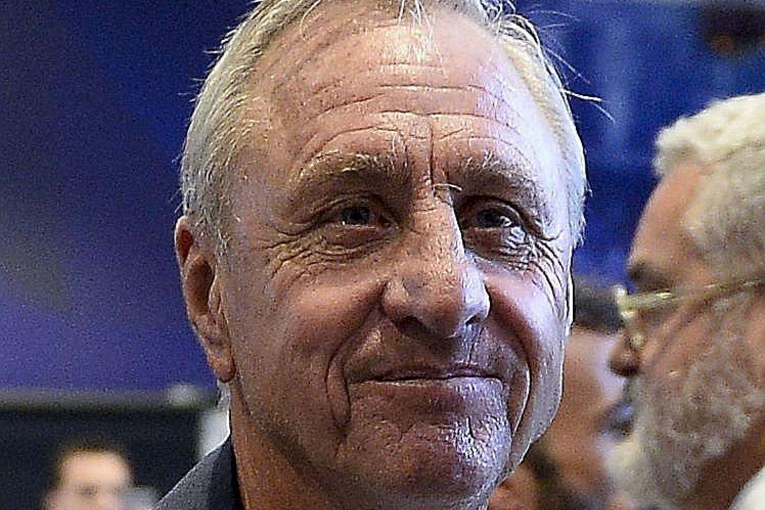 Johan Cruyff's illness was detected at a Barcelona clinic this week.