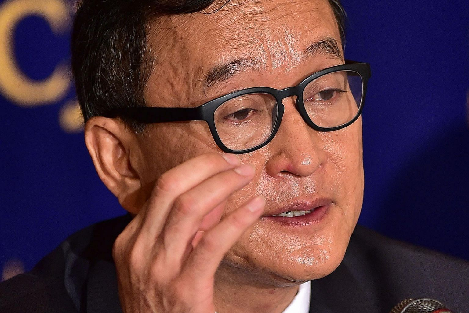 Cambodian opposition leader Sam Rainsy received a royal pardon in 2013 for his conviction on a defamation charge.