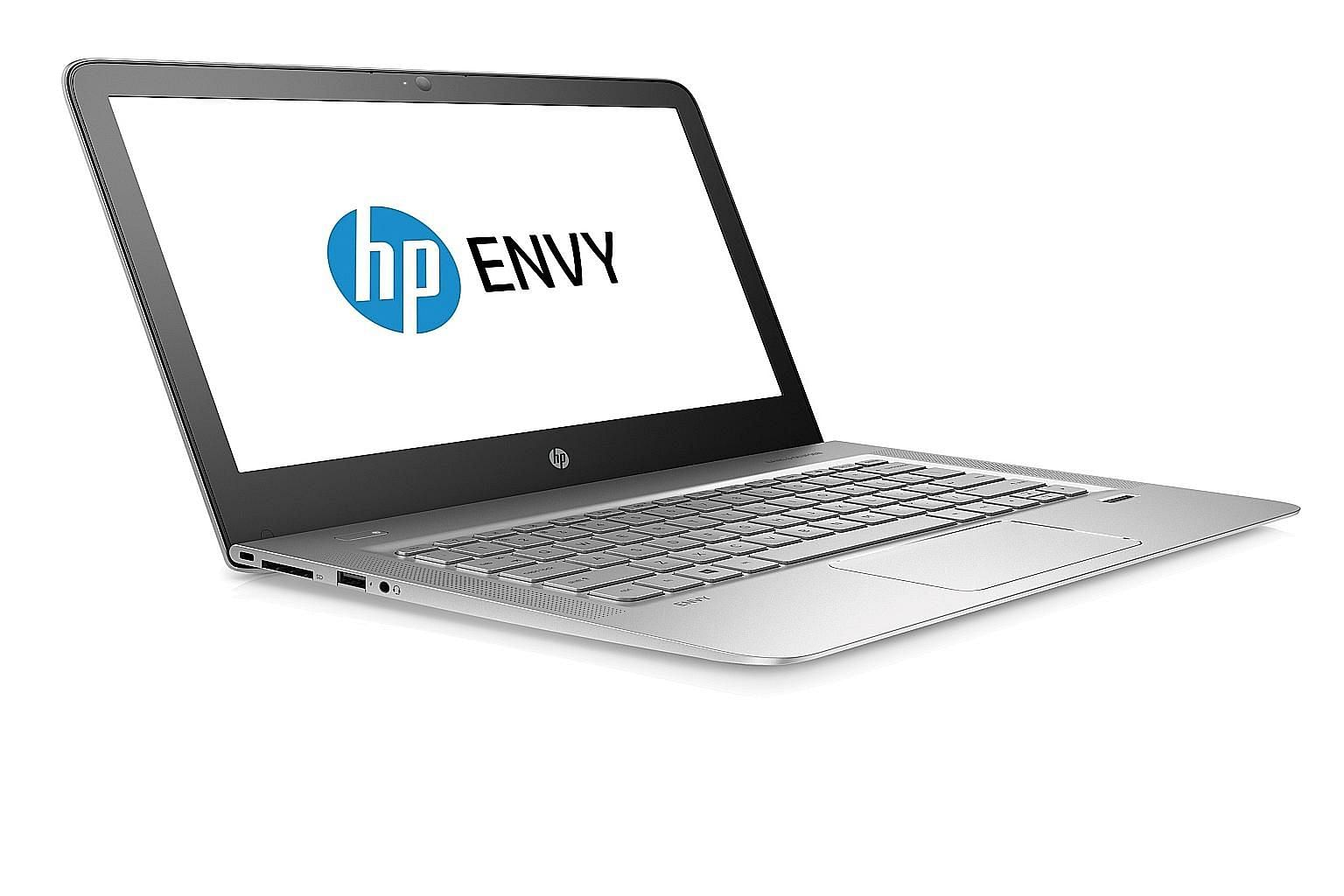 The HP Envy 13 is remarkably thin at under 13mm and weighs around 1.25kg. In comparison, Apple's 13-inch MacBook Air comes in at 17mm and 1.35kg.