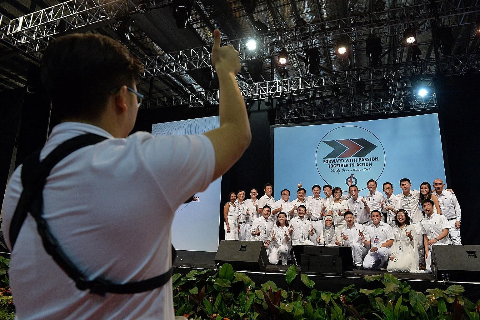 Yesterday's meeting was attended by 1,500 activists. PM Lee urged them to convince people about what the PAP stands for.