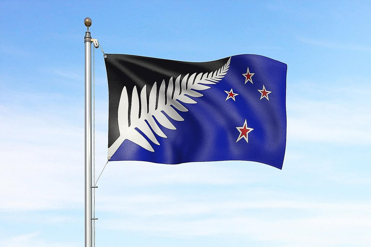 New Zealanders will decide at a referendum next year whether a design featuring a silver fern will replace the existing flag that includes Britain's Union Jack.