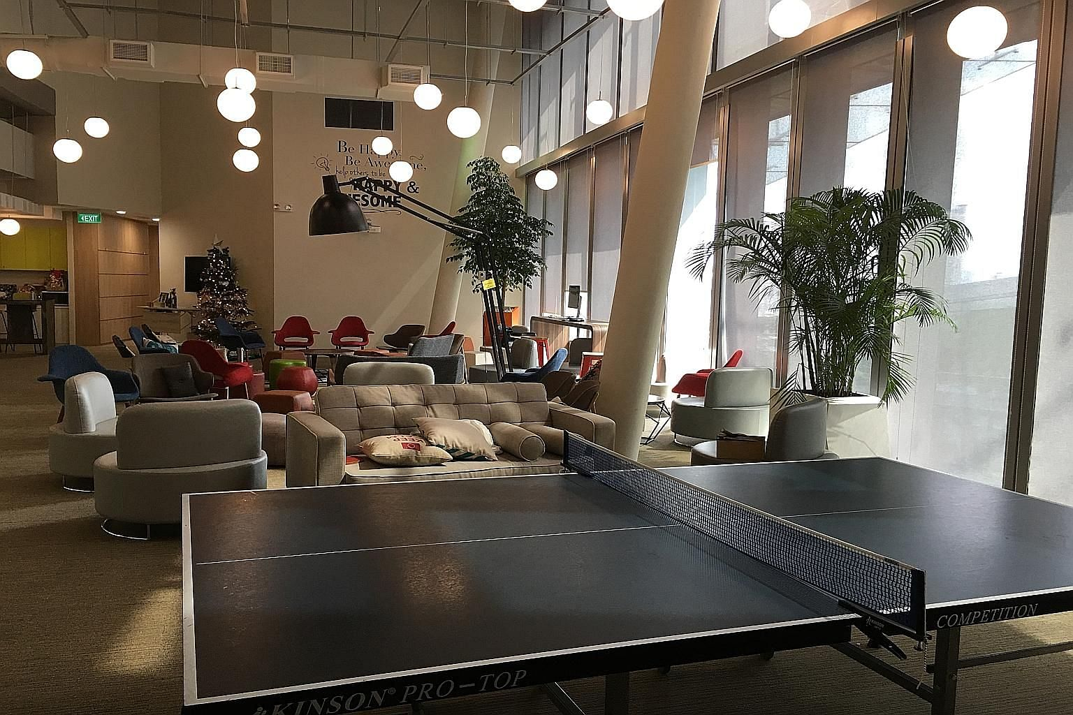 Open spaces and a ping pong table help create a conducive environment for a crack IT team of 90 tasked with refining government websites and apps more regularly as citizens' needs change.