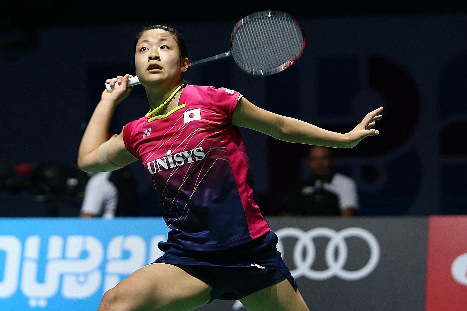Superseries Finals champion Nozomi Okuhara demands a lot of herself in training and plays just like in competition, says Singapore women's singles player Liang Xiaoyu.