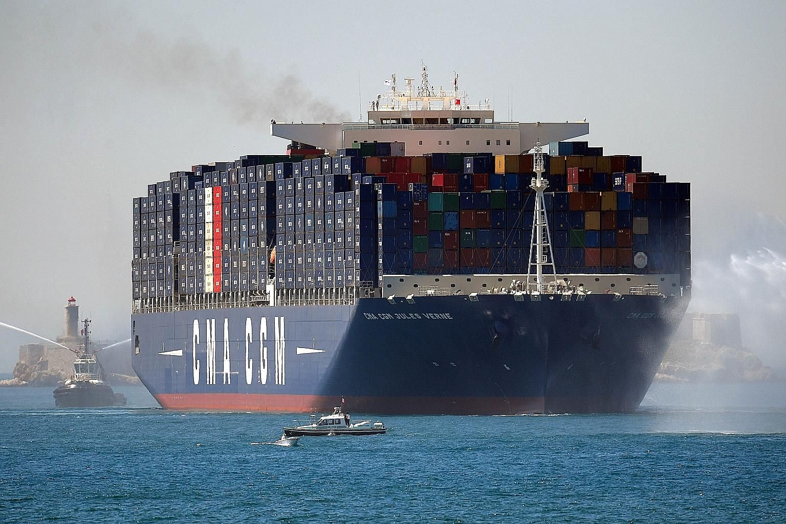 French company CMA CGM, the world's third-largest container shipping group, last month said it was buying Singapore government- owned NOL.