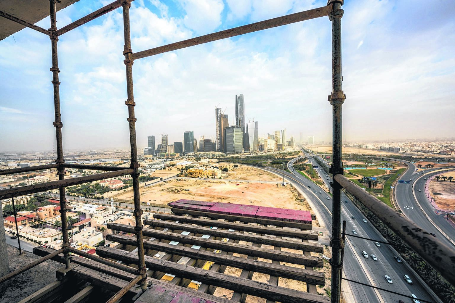 The King Abdullah financial district, under construction in Riyadh. No region is more affected by the decline in oil prices than the six nations of the Gulf Cooperation Council. Saudi Arabia, the most powerful of the GCC states, could burn through it