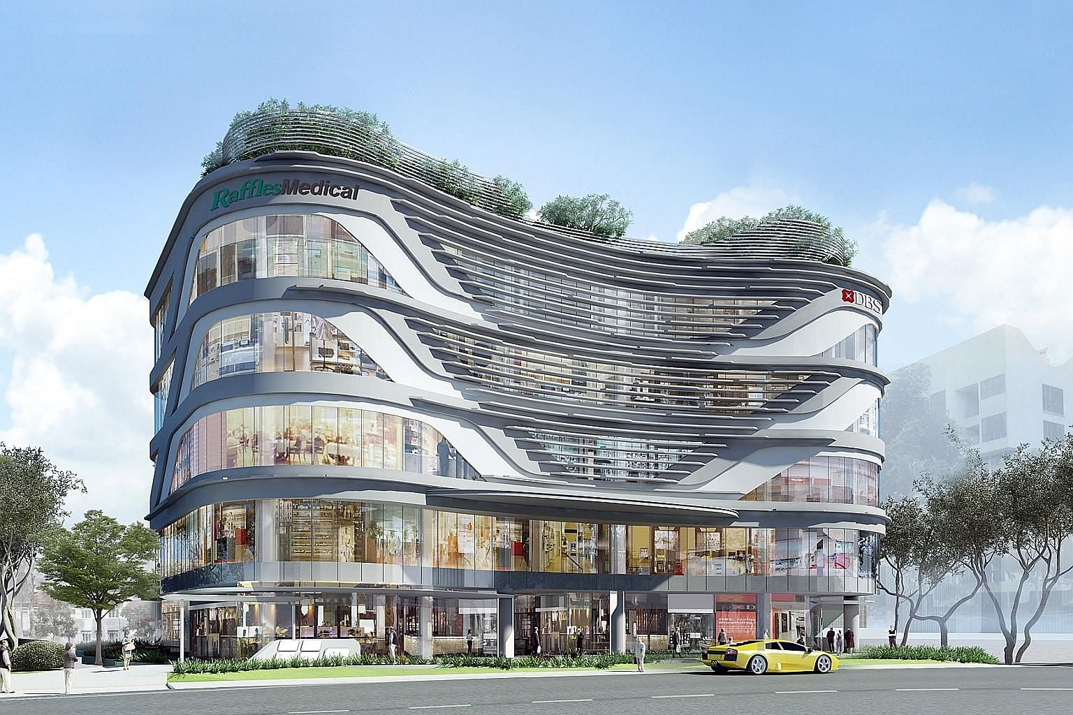 An artist's impression of Raffles Holland V, on track to be finished in the first quarter. Raffles Medical says the planned completion of projects such as Raffles Holland V, as well as its expansion to regional markets, will position the group well f