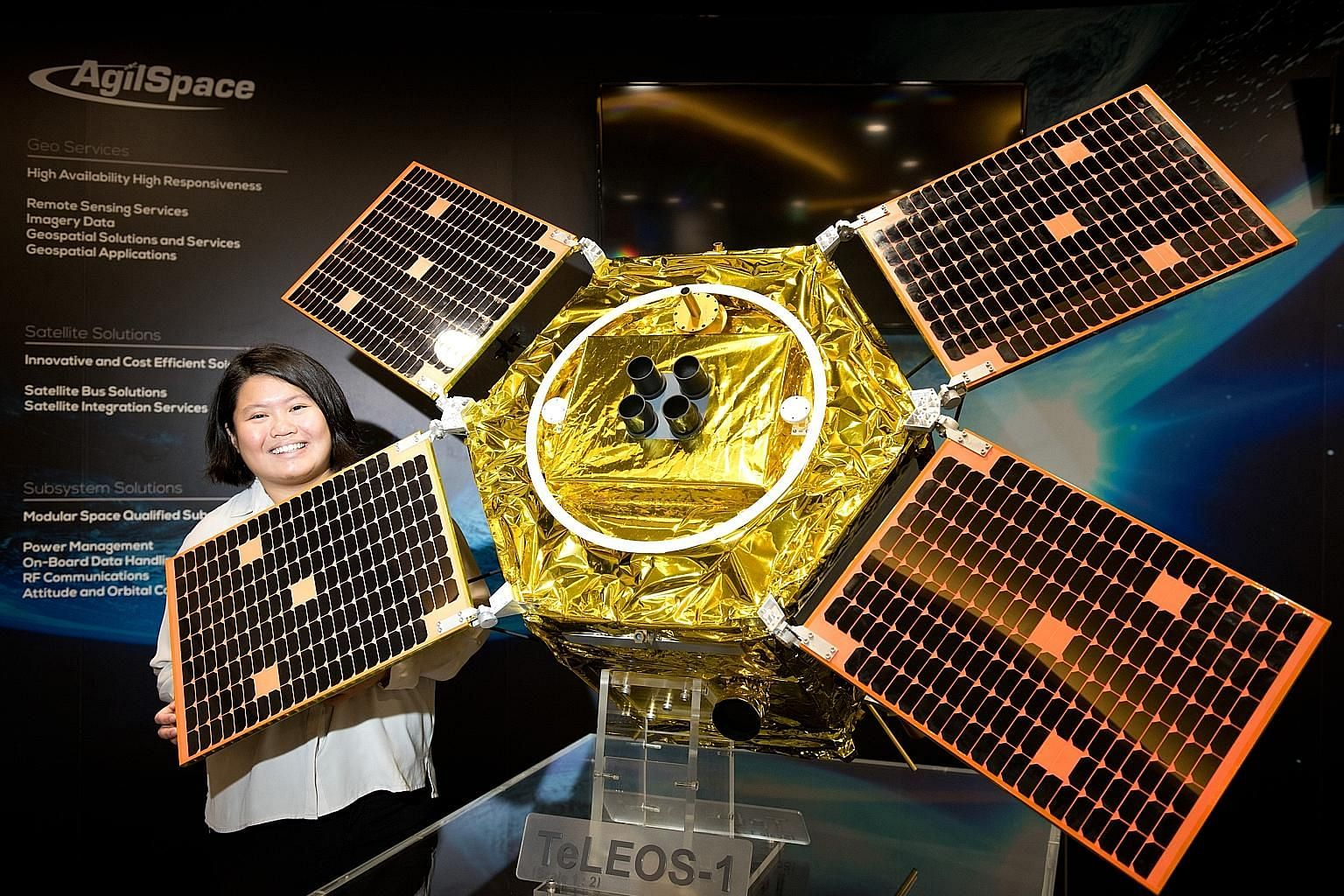 ST Engineering's TeLEOS-1 satellite. The company had a busy year, making history with the successful launch of Singapore's first commercial earth observation satellite in December last year.