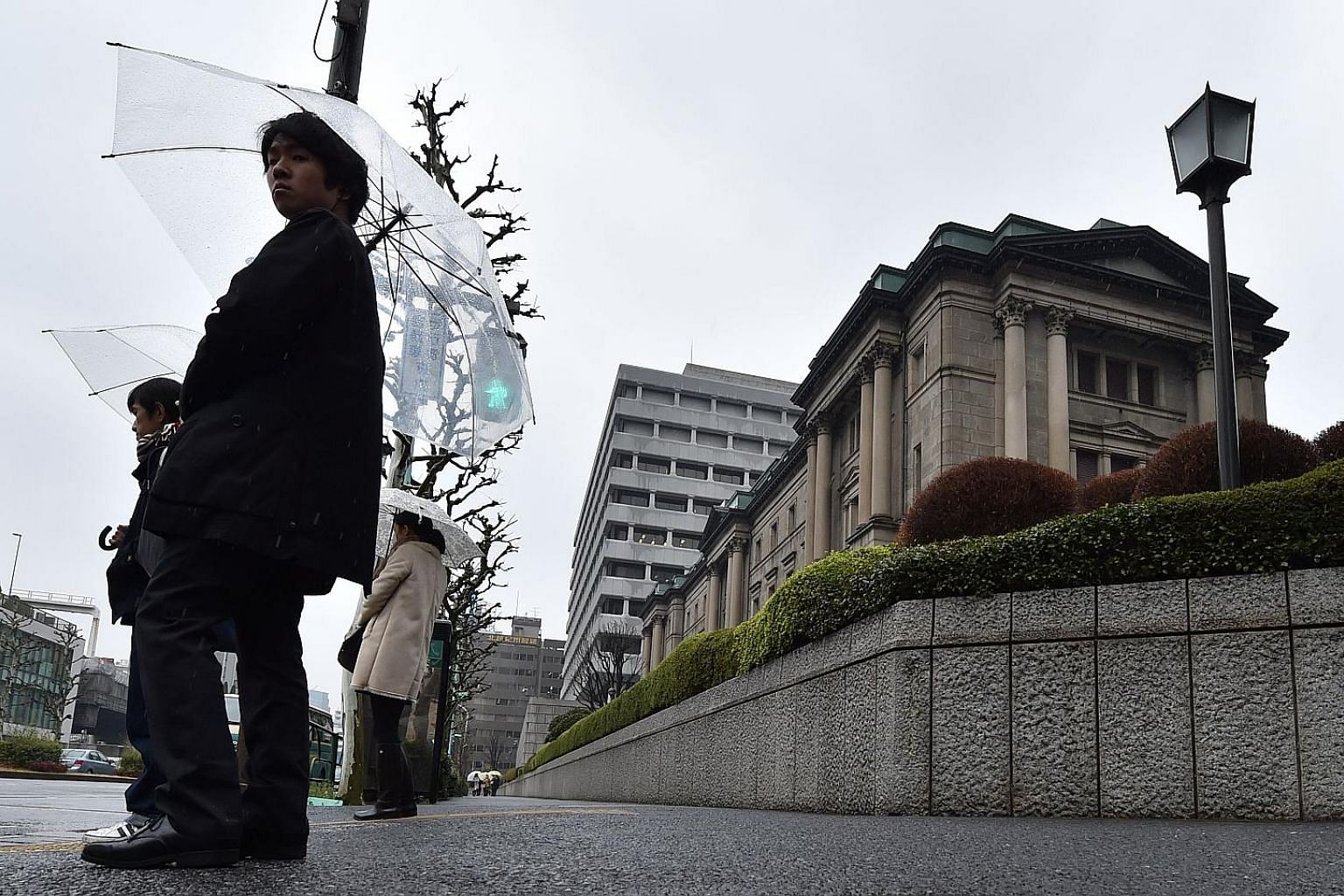 Tokyo was part of a global rally yesterday, with shares going up 1.7 per cent as the Bank of Japan (above) began its two-day meeting.