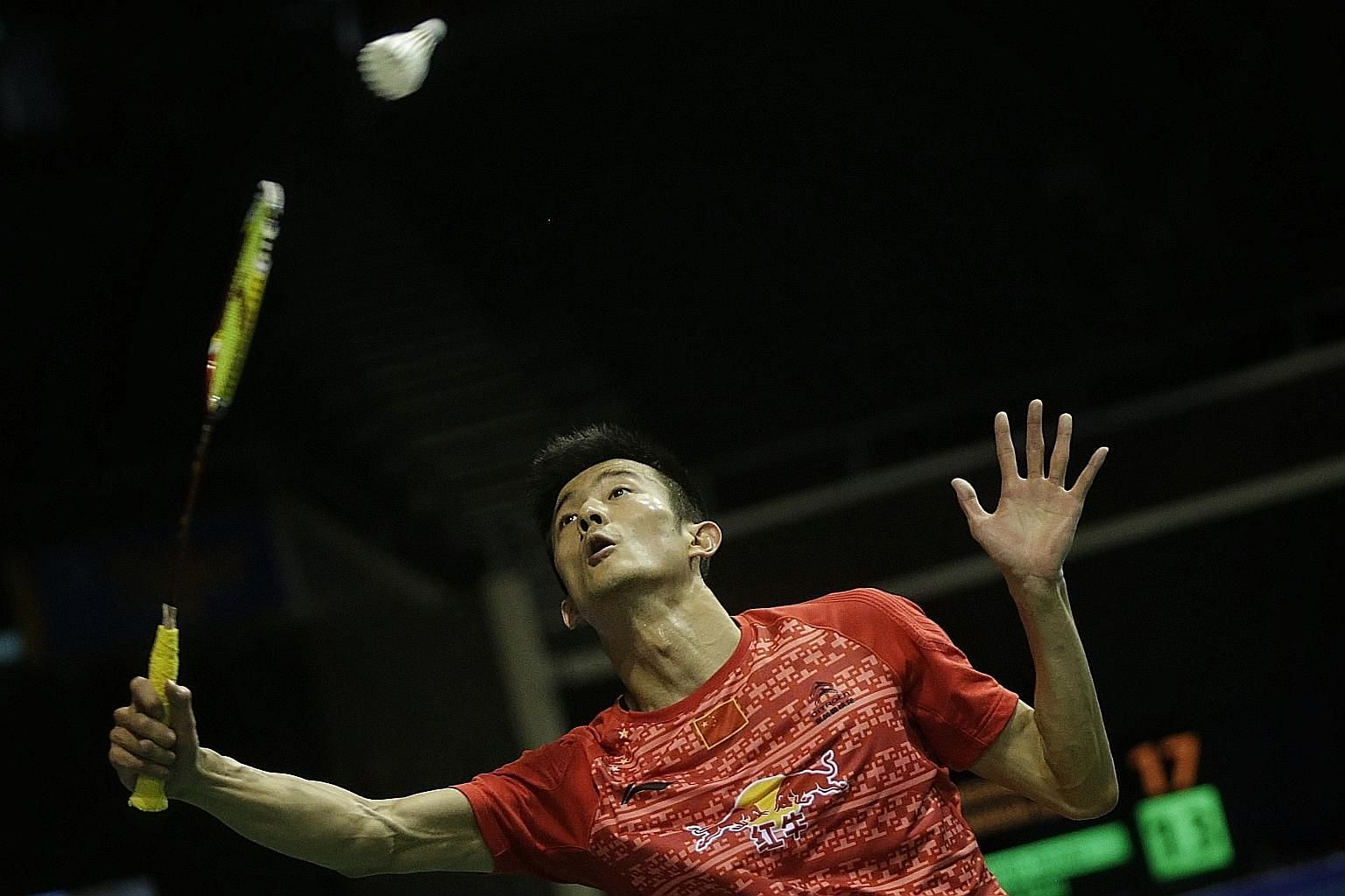 China's Chen Long (main picture) has yet to make the semi-finals in three attempts here after falling to Hong Kong's Angus Ng (left), while Akane Yamaguchi took out top-seeded Carolina Marin.
