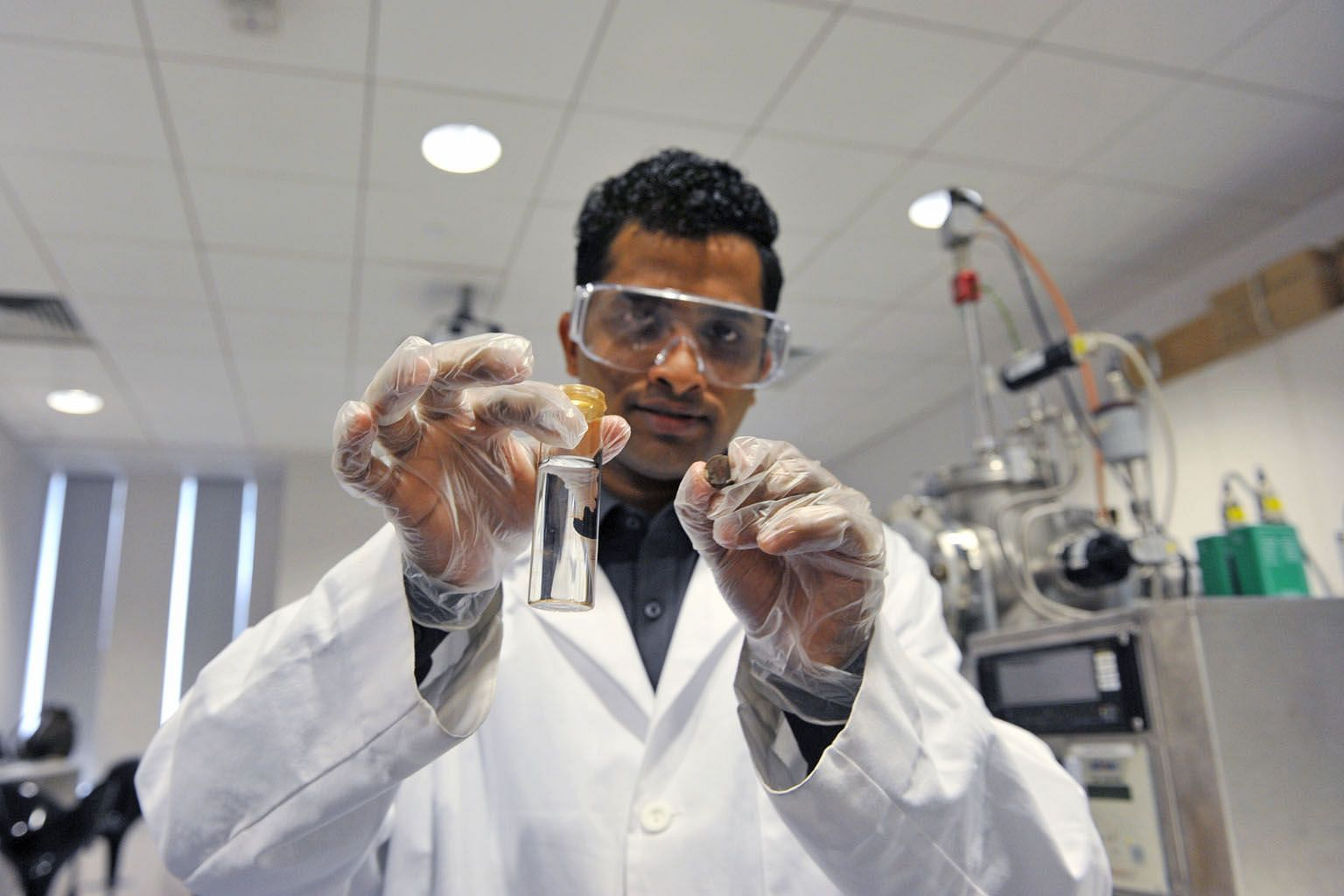 """Mr Subasinghe, a Republic Polytechnic graduate, believes that a technology such as """"smart blood"""" may become reality one day."""