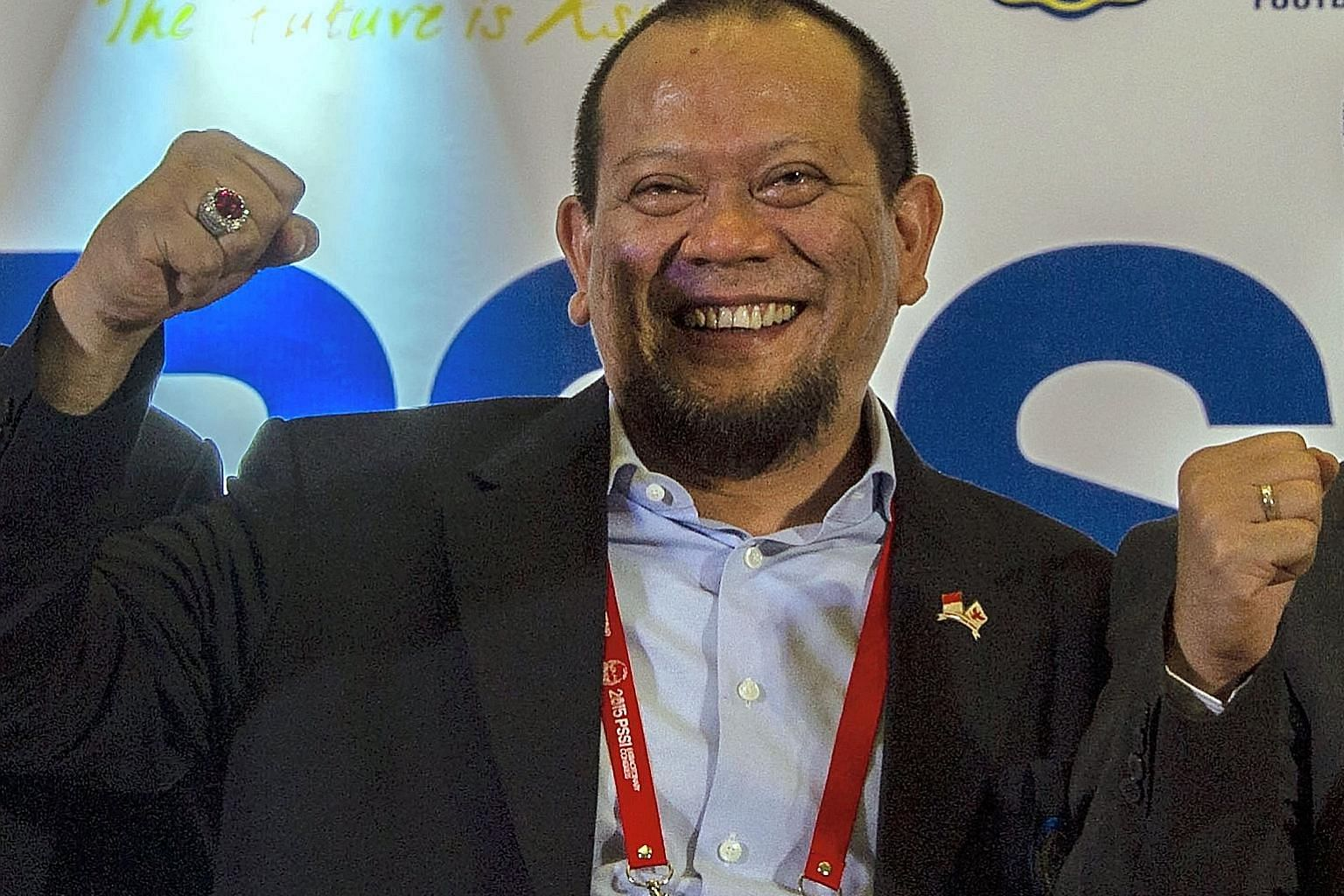 Mr La Nyalla after he was elected chief of the Indonesian Football Association last year. He was named as a suspect in a graft probe by the country's Corruption Eradication Commission on March 16 this year.
