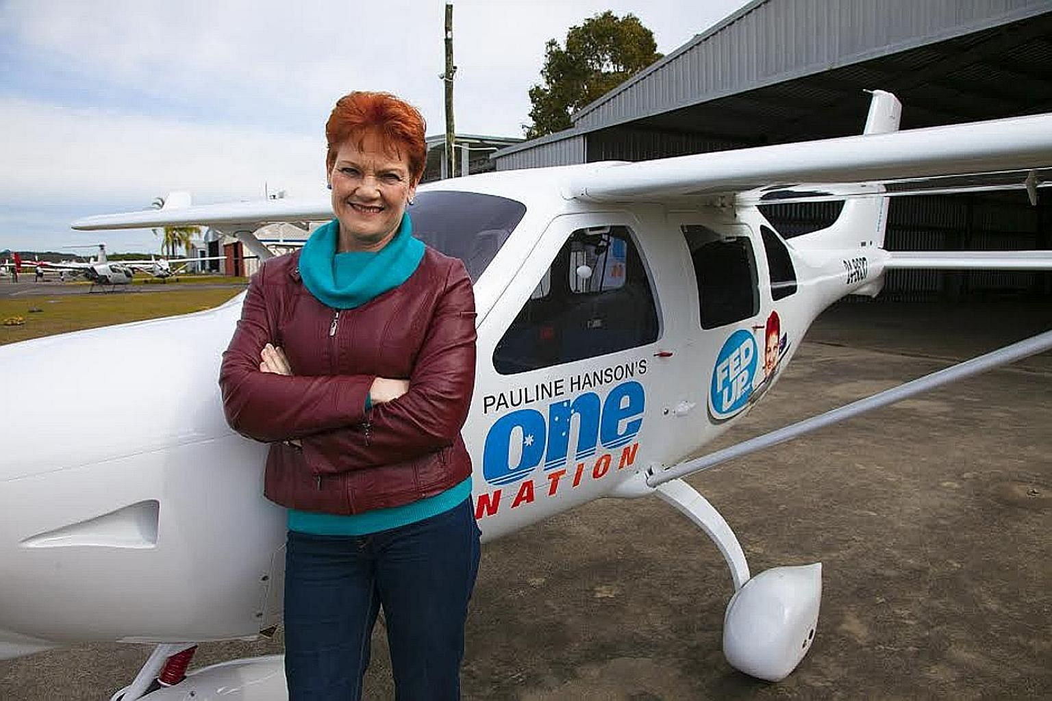 """Ms Hanson (above) told The Straits Times that she is """"quietly confident"""" of returning to Parliament. She is contesting the election as leader of her One Nation party, which she co-founded two decades ago."""