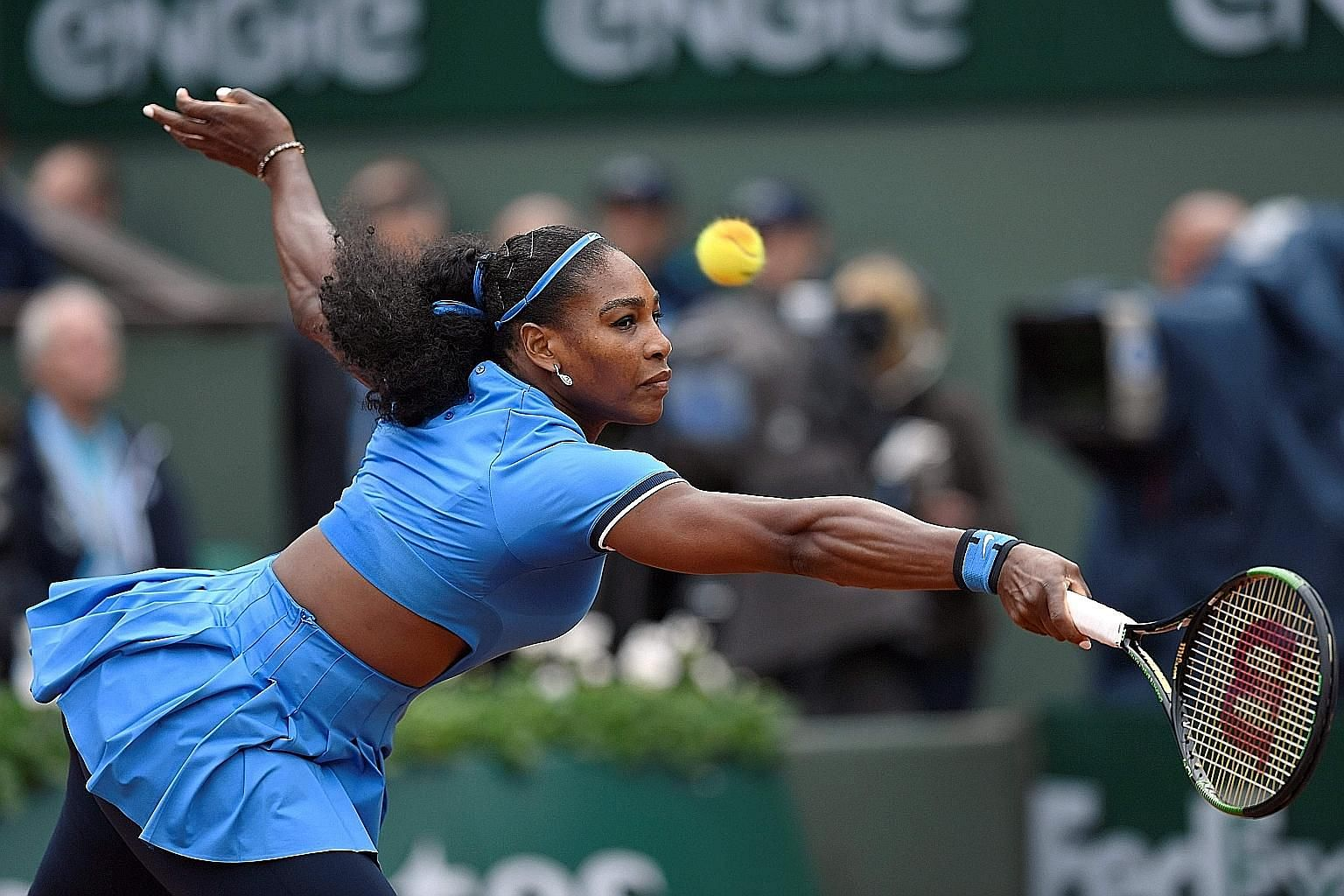 Despite losing two Grand Slam finals this year - including last Saturday's French Open final to Garbine Muguruza - Serena Williams (above) has had a dominant run in the past 12 months, which pushed her earnings past Maria Sharapova to US$28.9 million