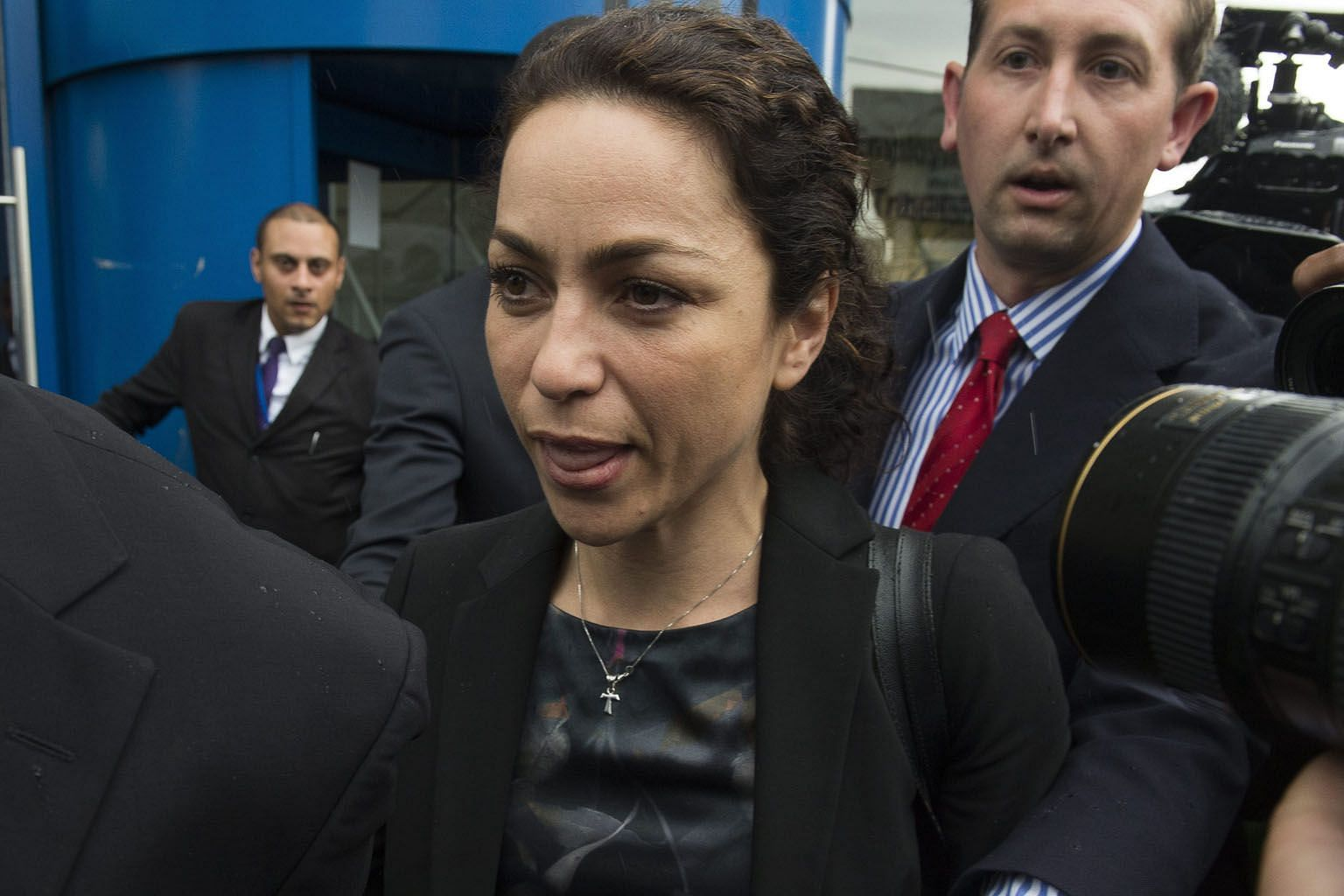 Former Chelsea doctor Eva Carneiro leaving an employment tribunal in Croydon on Tuesday. She settled a constructive dismissal claim against the club for an unspecified amount.